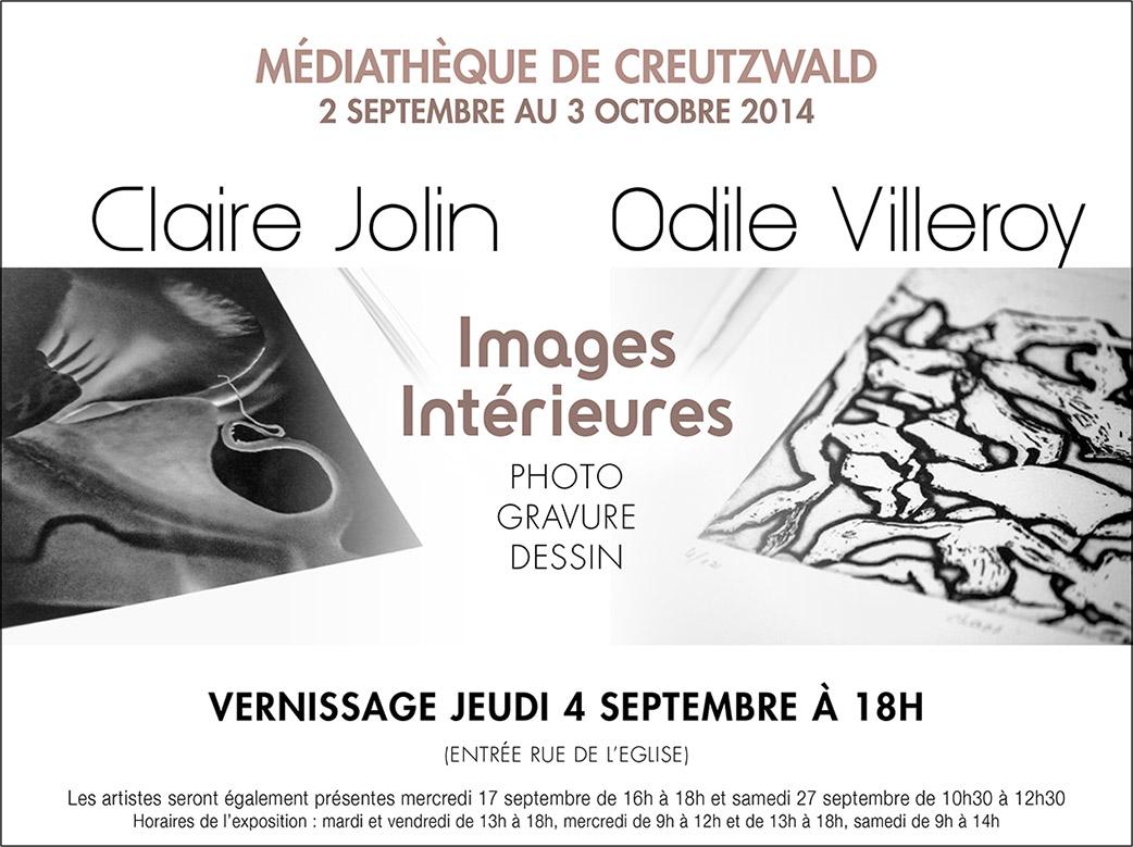 Exposition Odile Villeroy et Claire Jolin. Creutzwald septembre-octobre 2014